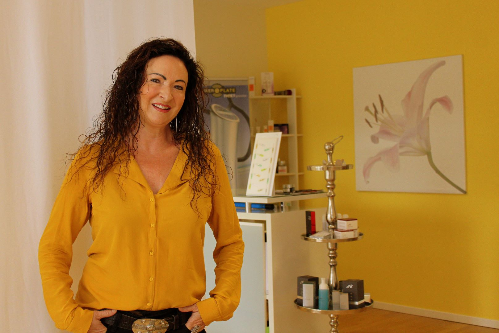 Katrin Widmer im Studio